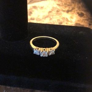 14k Yellow Gold over Sterling Silver. 1.3 ctw